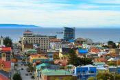 View of the city of Punta Arenas, from the viewpoint Guide of Punta Arenas, CHILE