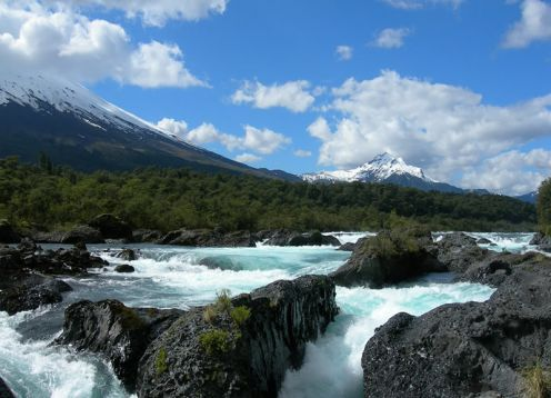 Waterfall of petrohue, Puerto Varas