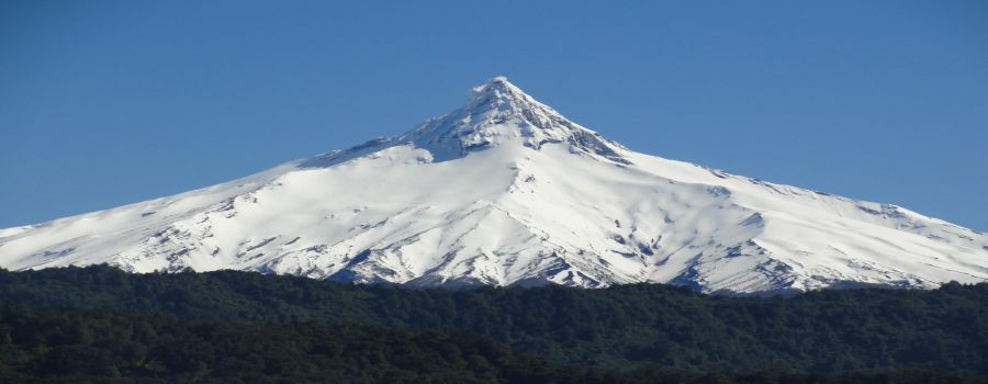 The Puntiagudo Volcano is 30 km northeast of the Osorno Volcano and 98 km northeast of Puerto Varas. Puerto Varas, CHILE