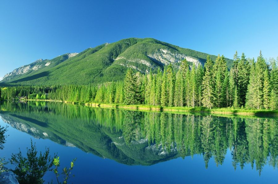 Banff National Park is the oldest national park in Canada, established in the Rocky Mountains in 1885. Calgary, CANADA