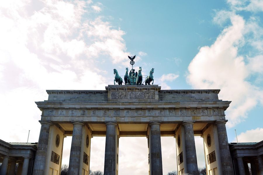 The Brandenburg Gate is the old entrance to Berlin and one of the main symbols of both the city and Germany. Berlin, GERMANY