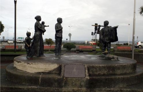 Monument to the German settlers, Puerto Montt