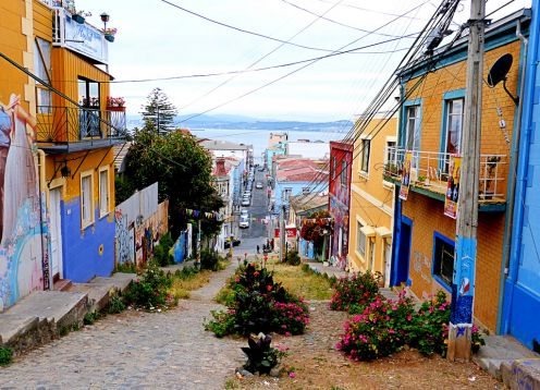 Alegre Hill in Valparaiso
