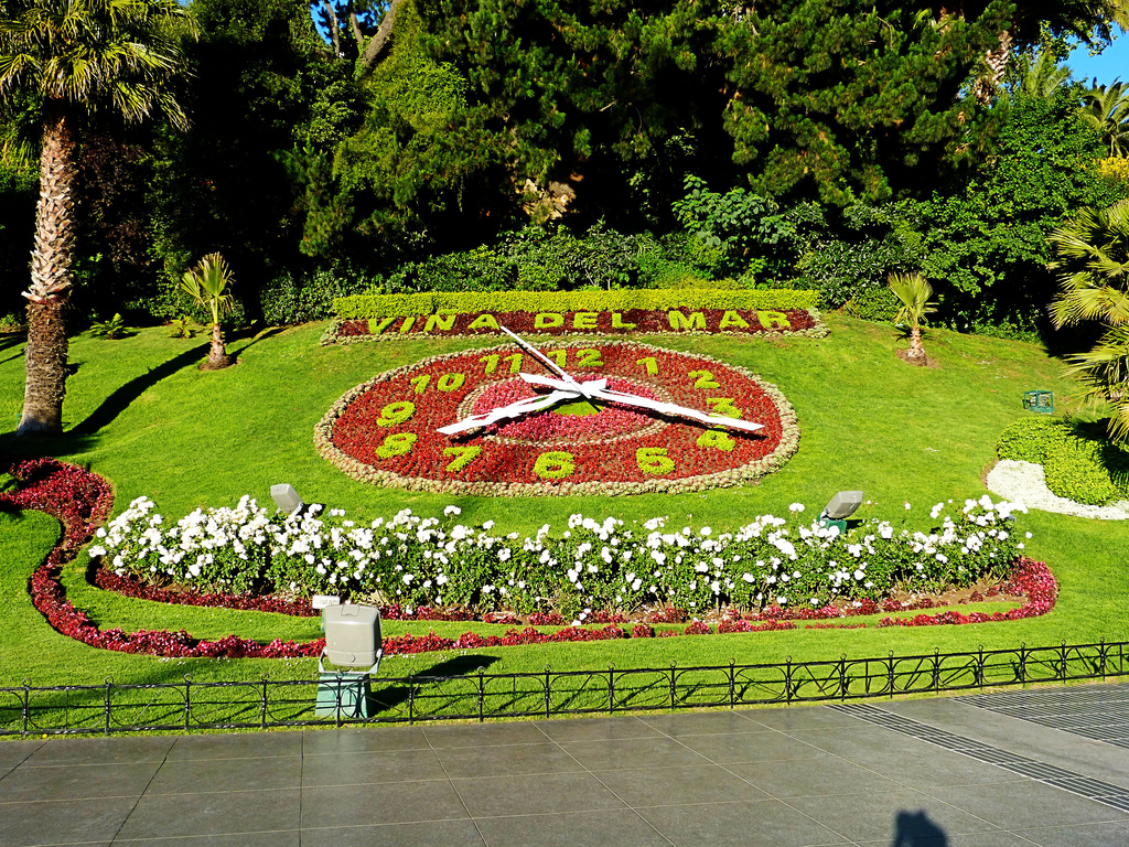 Clock of the Flowers in Vi�a del Mar.