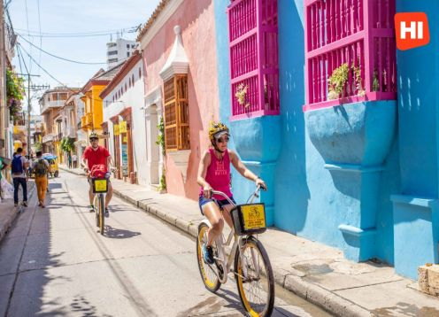 Historical City Tour by bicycle through Cartagena