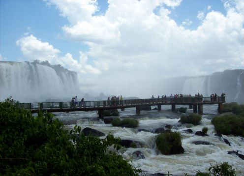 Itaipu Dam And Waterfalls - Brazilian Side