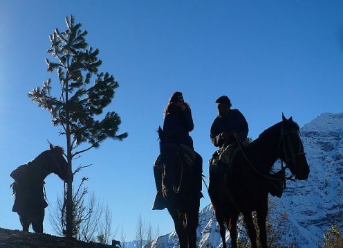 HORSEBACK RIDE ON CAJON DEL MAIPO. Santiago, CHILE
