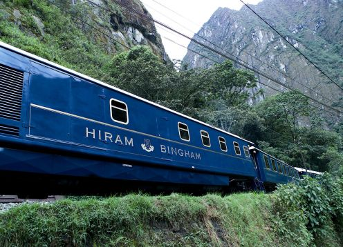 EXCURSION TO MACHU PICCHU BY HIRAM BINGHAM LUXURY TRAIN. Cusco, PERU