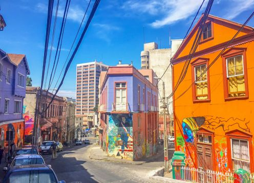 Transfer to Santiago and Tour to Valparaiso and Vi�a del Mar