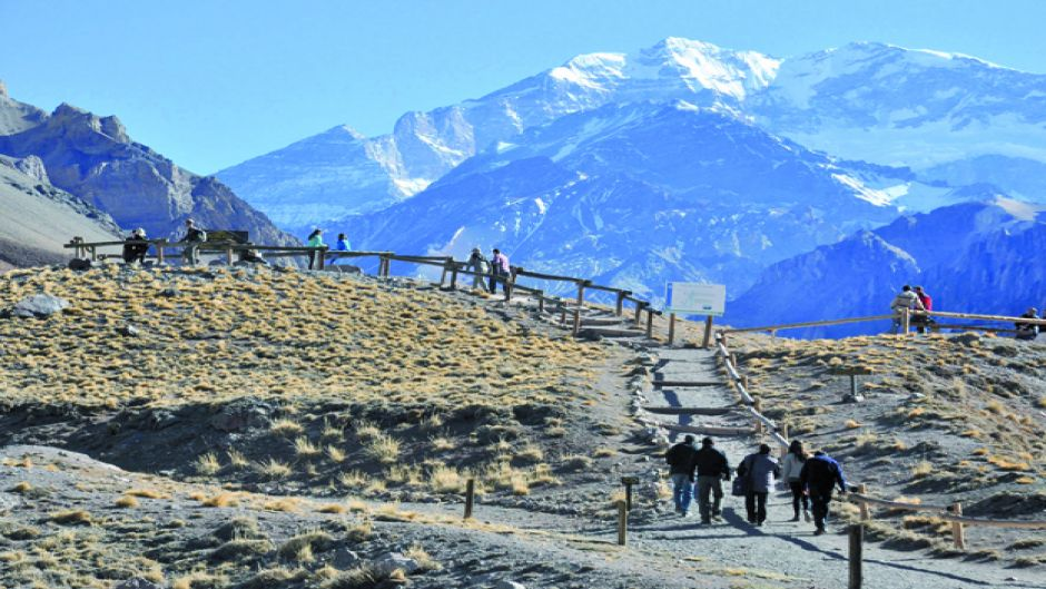 Portillo, bridge of the Inca and mirador del aconcagua - Santiago, Chile