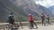 THE ANDES IN MOUNTAIN BIKE. RESERVOIR DEL YESO - Santiago, Chile